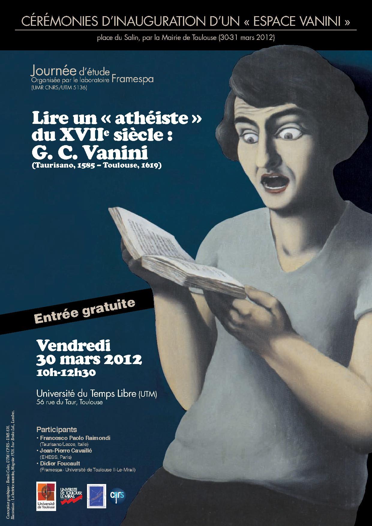 Journée d\'étude « Lire un athéiste du xviie siècle : Giulio Cesare ...